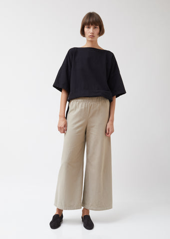 Cotton Flannel Wide Pants