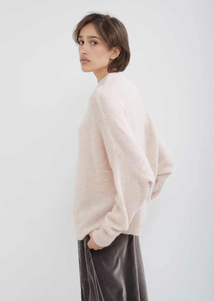 Cashmere Silk Round Neck Sweater