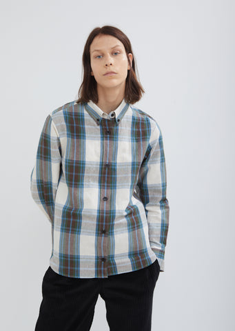 Zanray Check Cotton Linen Shirt