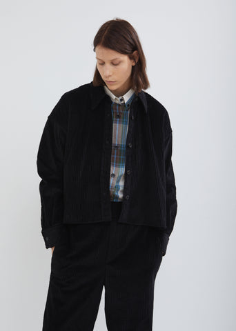 Hanao Button Front Corduroy Shirt