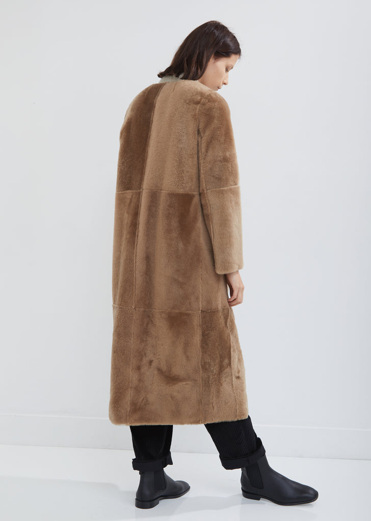 Reversible Lacon Fur and Leather Coat