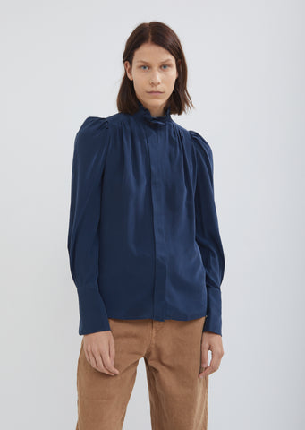 Lamia Silky Pleated Blouse
