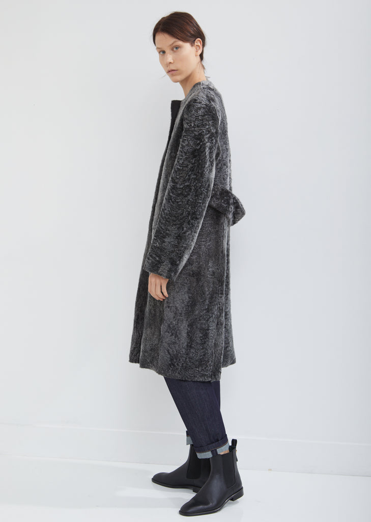 Lust Shearling Coat without Collar