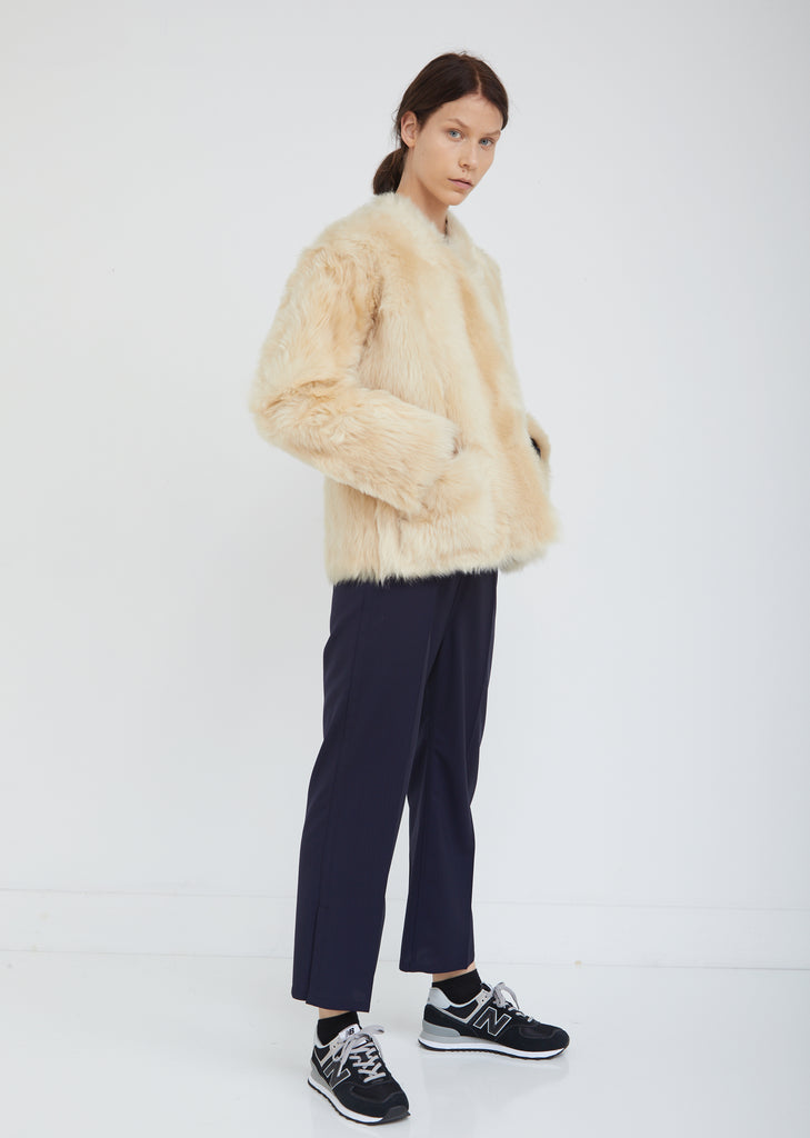 Lima V-Neck Shearling Reversible Jacket