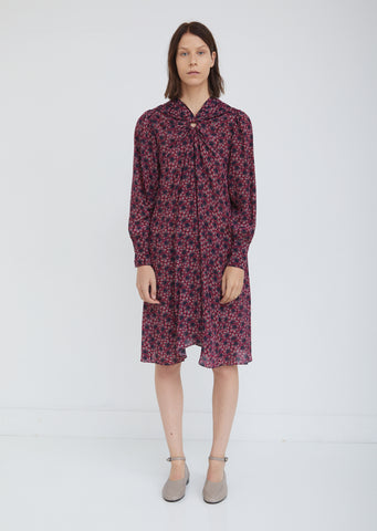 Leone Printed Silk Dress