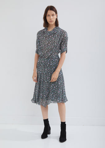 Juyane Floral Crepe Dress
