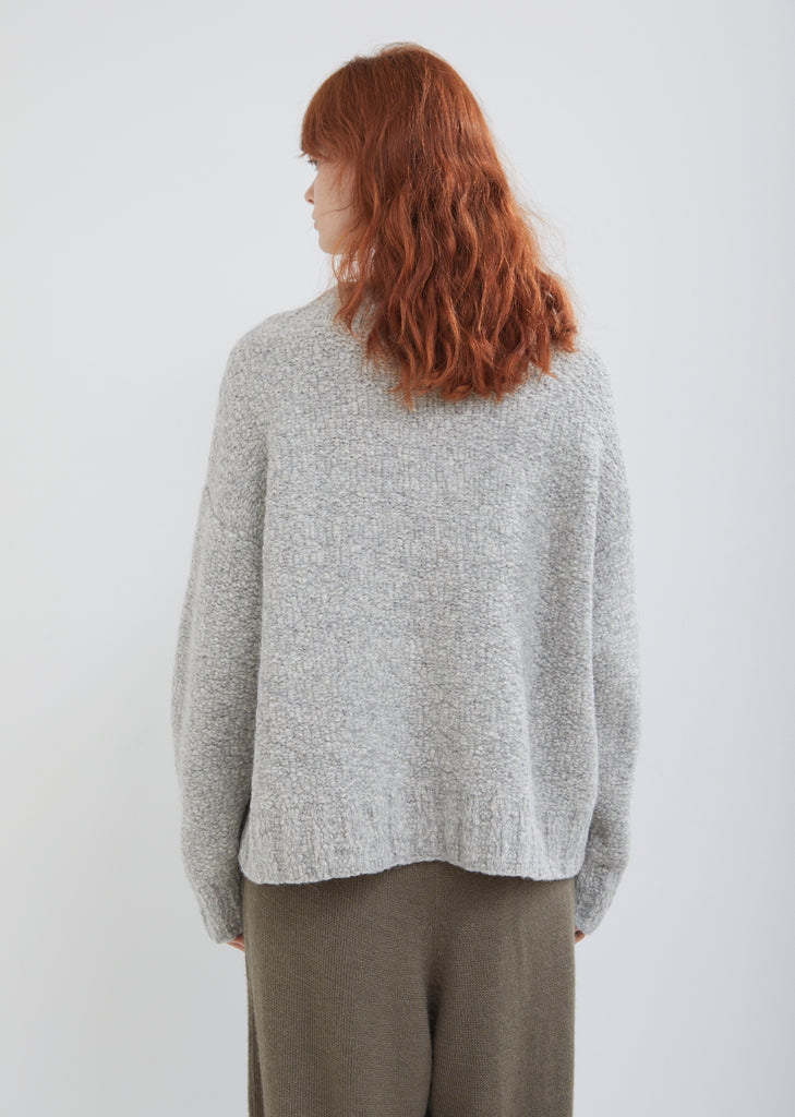 Rustic Wide Crewneck Sweater