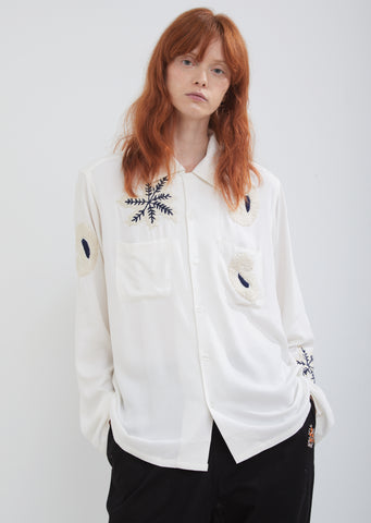 Paisley Embroidery Shirt