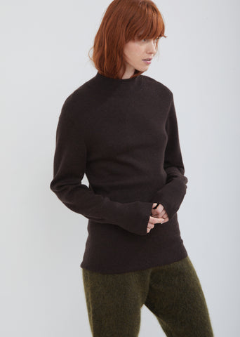 Interlock Basic Mock Neck Sweater