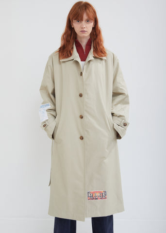 Belted Appliqué Trench Coat