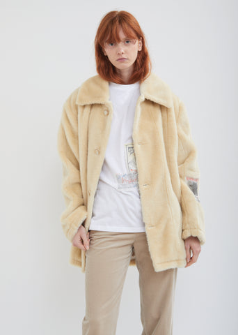 Faux Fur Car Coat