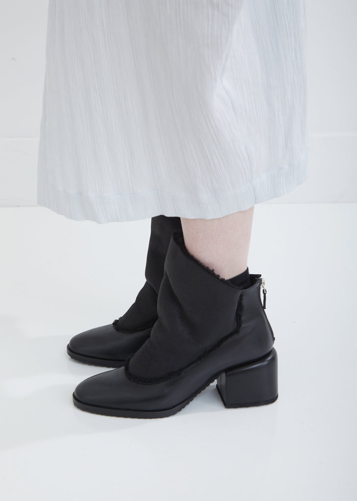 Litava Leather Shearling Boots
