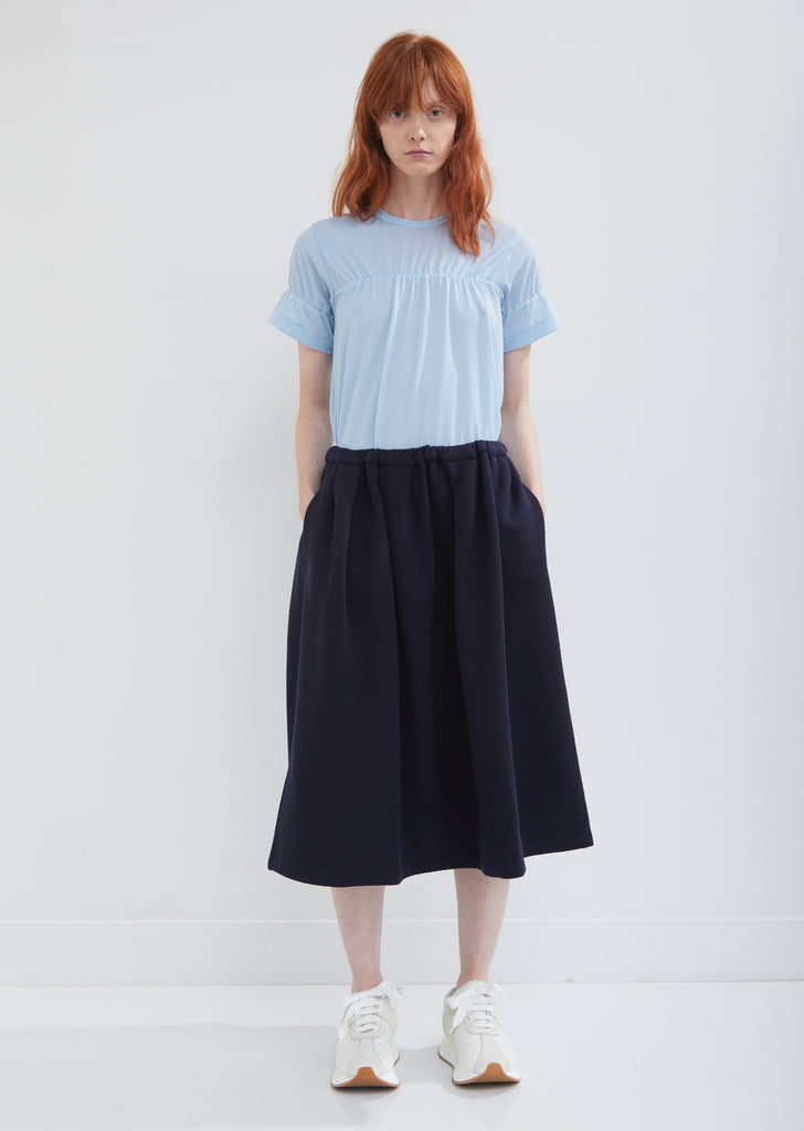 Brushed Jersey Pleated Skirt