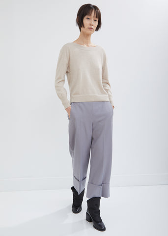 Porub Cropped Sailor Pants