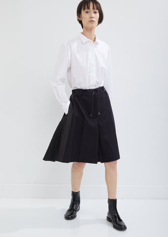 Melton Pleated Back Shorts