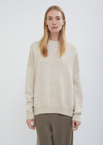 Baby Alpaca Wool Wide Crewneck