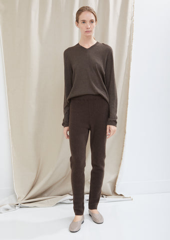 Cashmere Rib Long John Pants