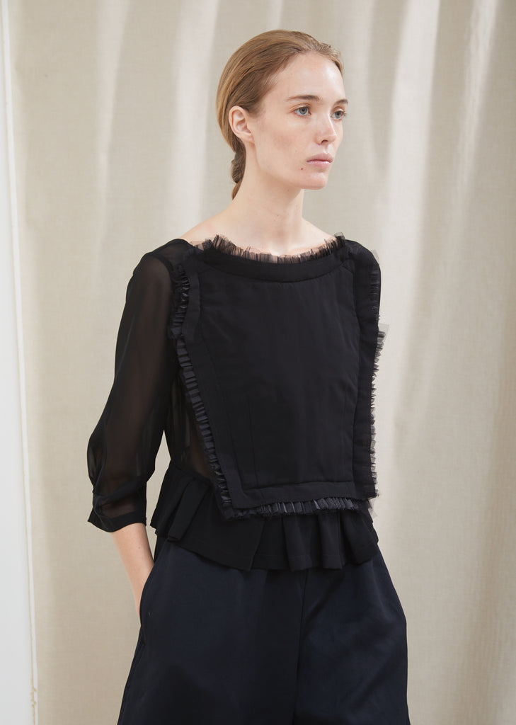 Georgette Panel Blouse