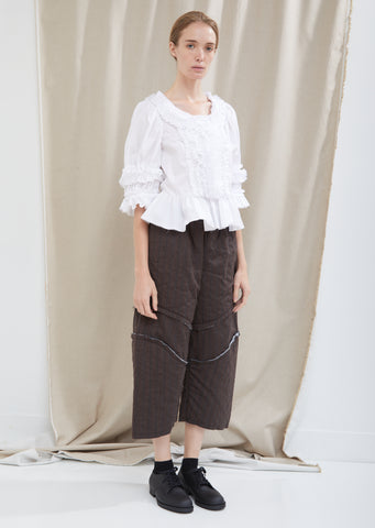 Wool Herringbone Stripe Pants