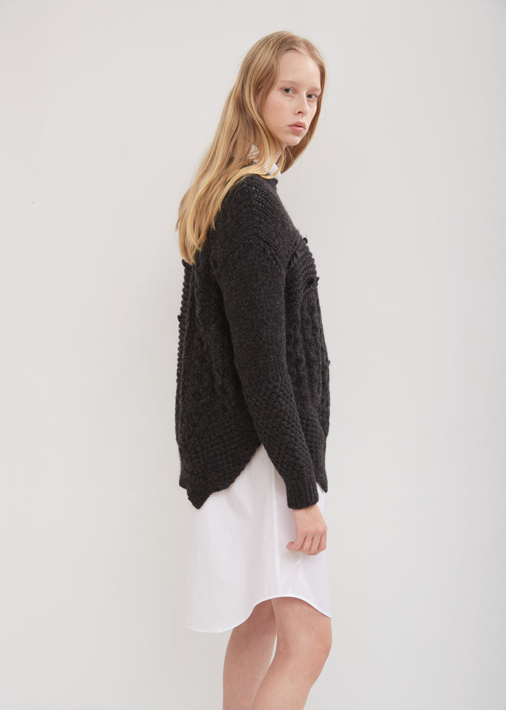 Patchwork Alpaca Wool Sweater