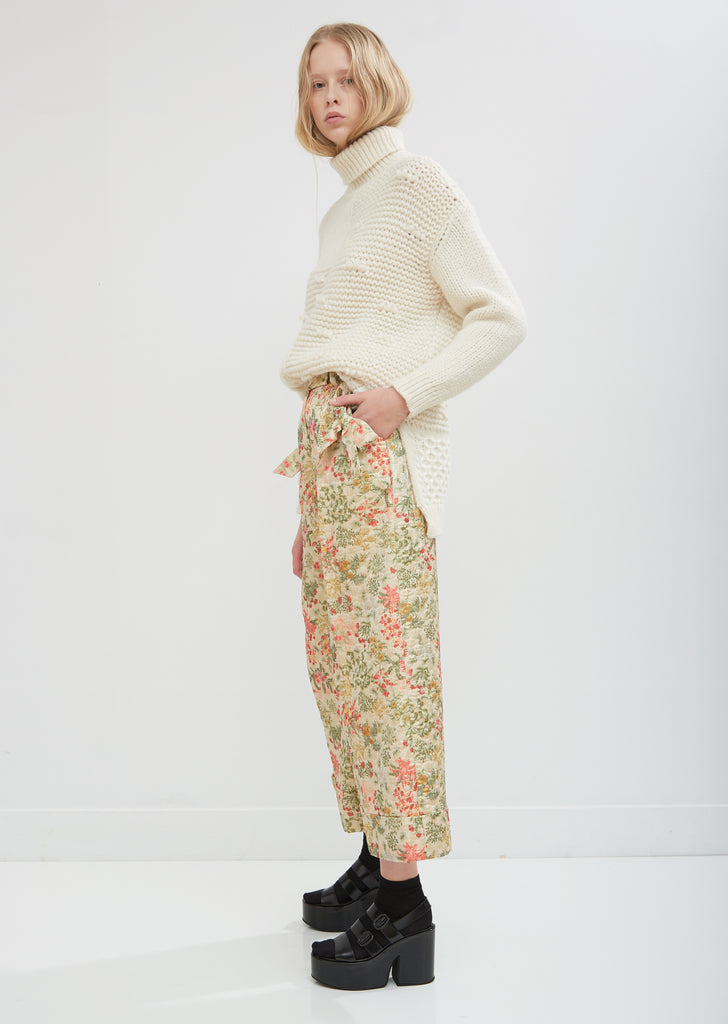 Wide Leg Trousers with Bow Pockets