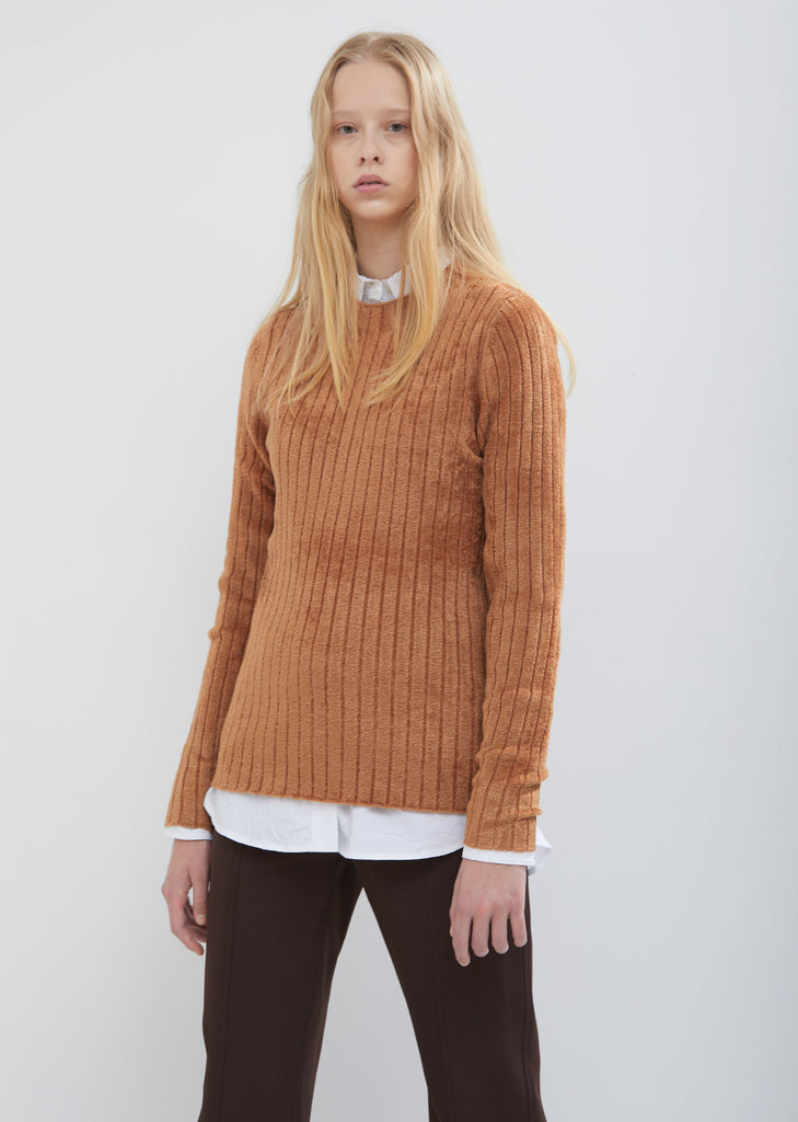 Dion Velour Mock Neck Sweater