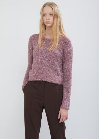 Courtney Cropped Lurex Sweater