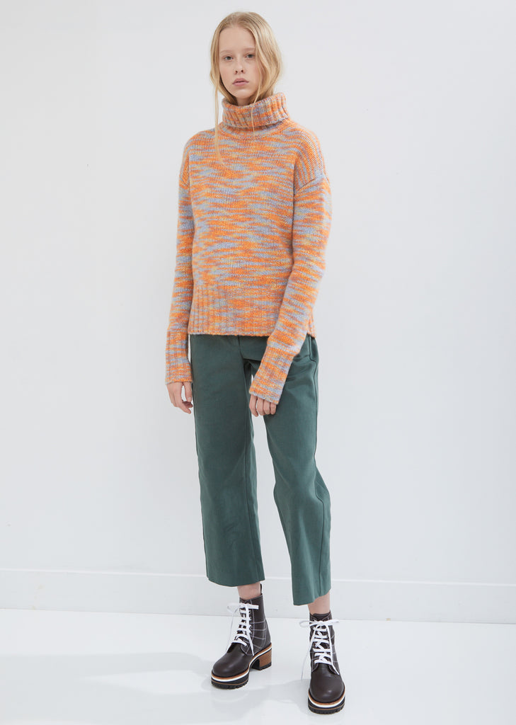 Bexley Straight Cropped Cotton Pants