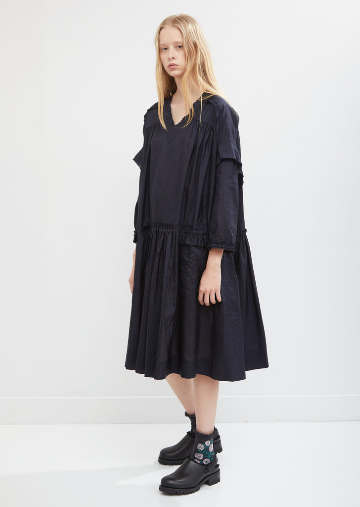 Vista Silk Long Sleeve Dress