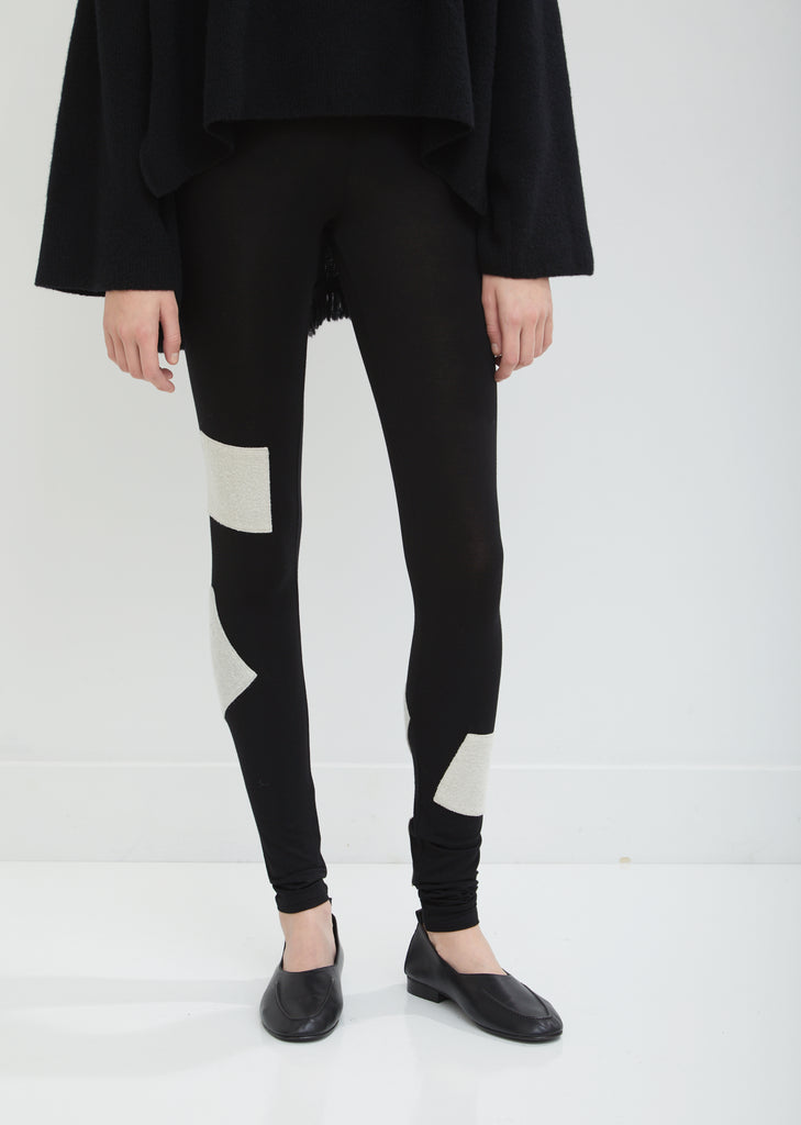 Woven Patch Leggings