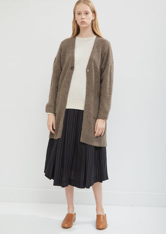 Yak V-Neck Long Cardigan