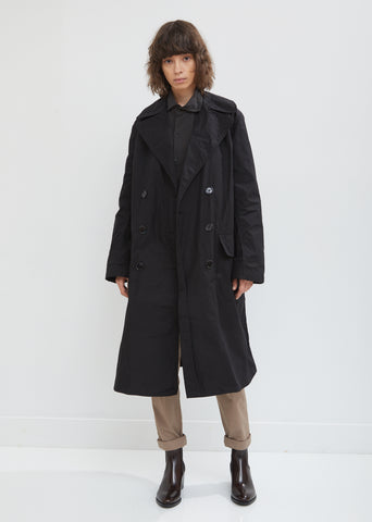 Patch Pocket Waxed Trench Coat