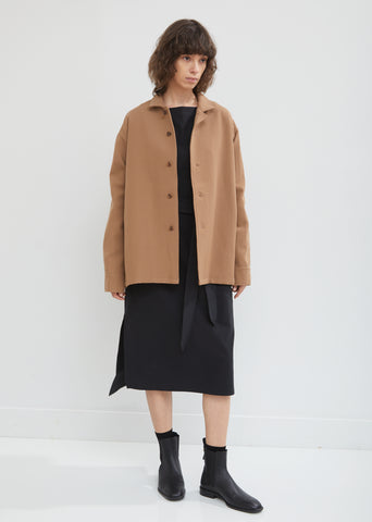 Wool and Cotton Shirt Jacket