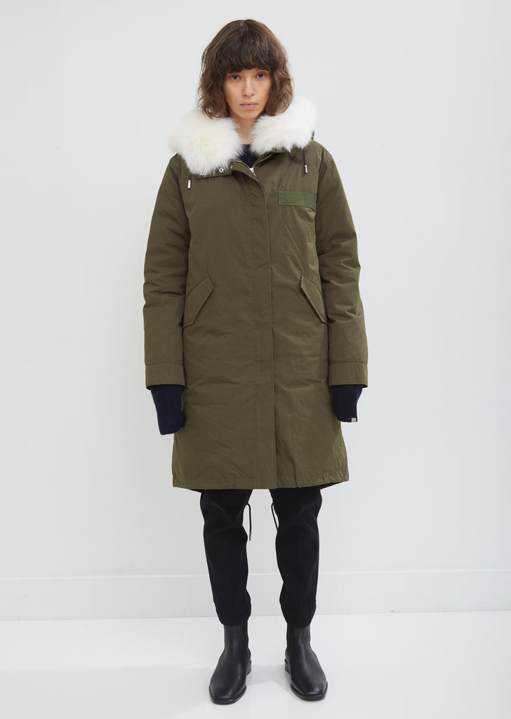 Fox Trimmed Hooded Parka