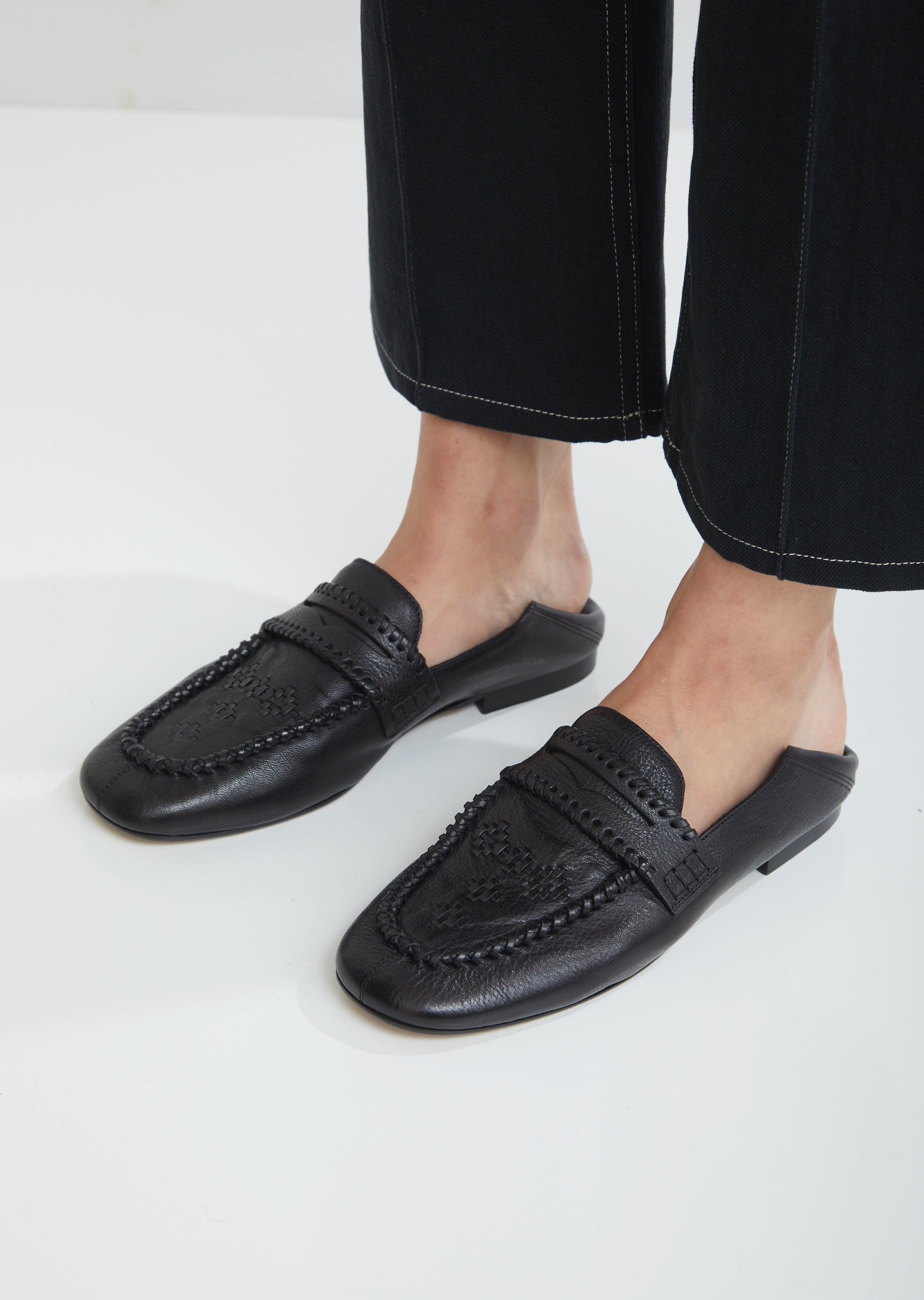 Firven Braided Leather Loafers by