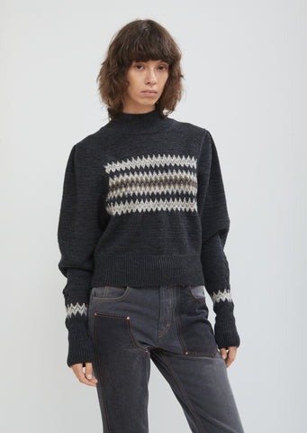 Demie Mock Neck Sweater