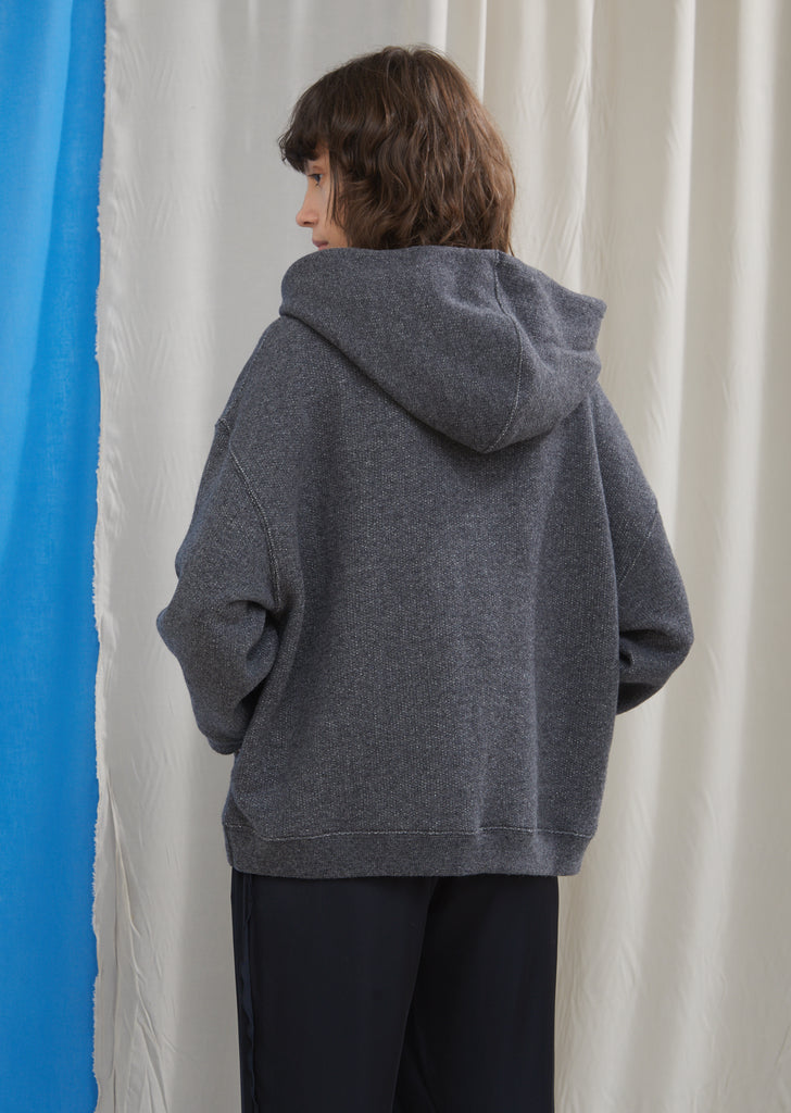 Wool Cotton Shrunken Hoodie