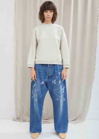 Splatter Paint Wide Leg Jean
