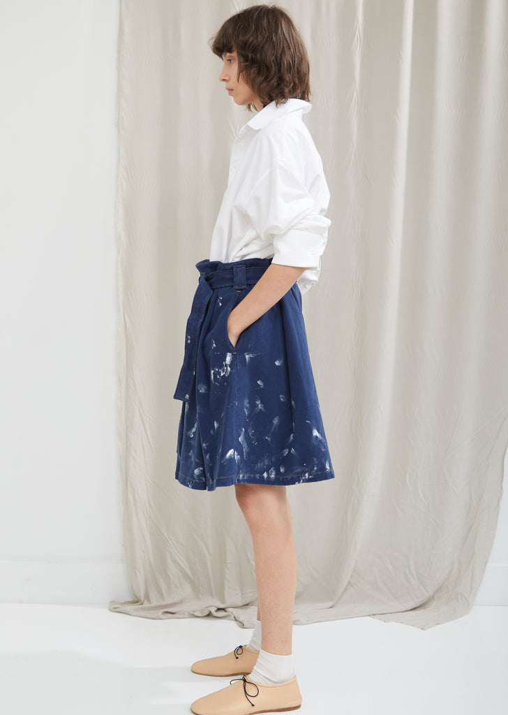 Paint Denim Skirt