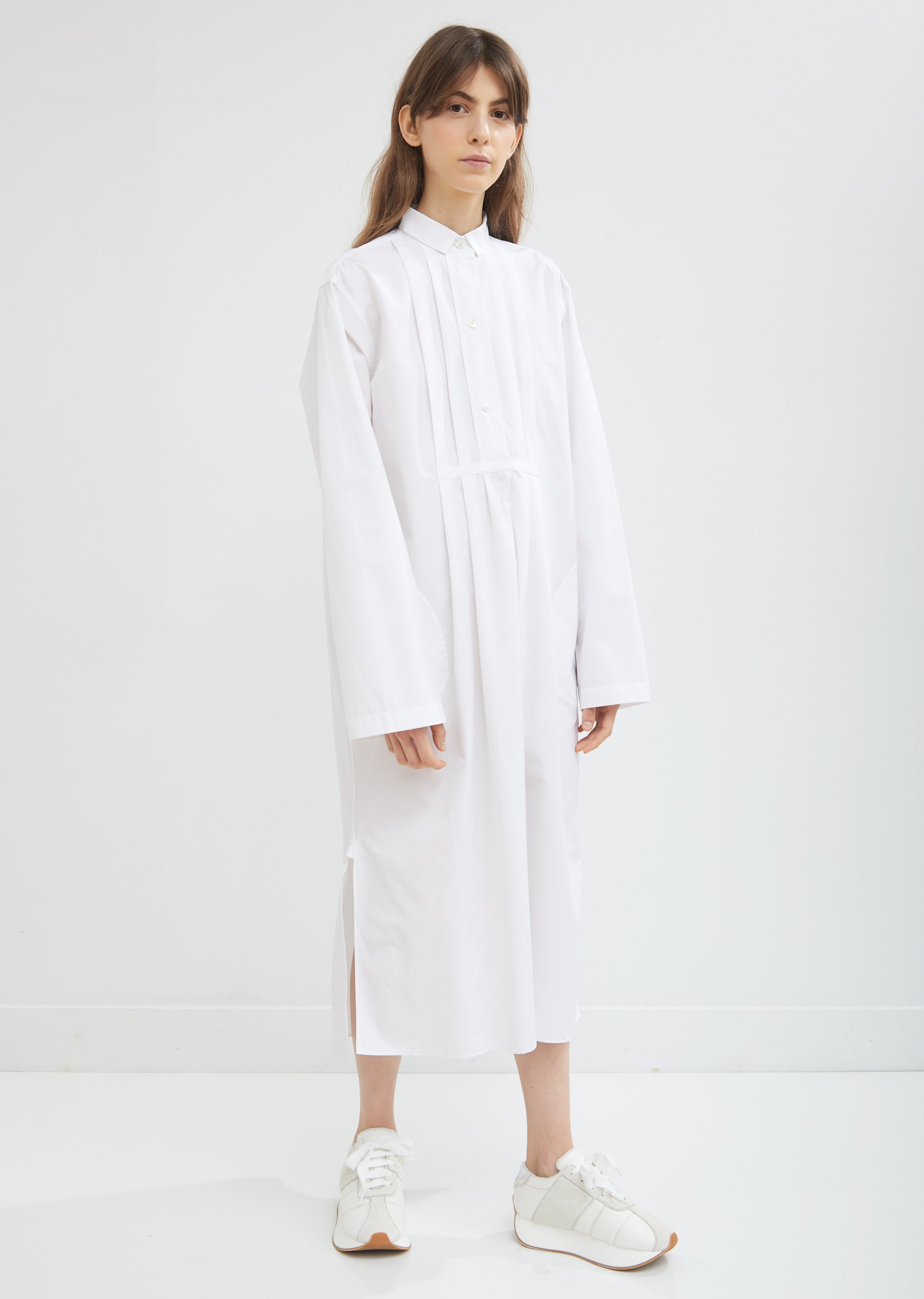 Dael Pleated Cotton Poplin Shirt Dress By Sofie Dhoore La Garonne
