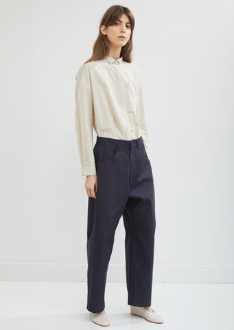 Pomona Contrast Cuff Casual Pants