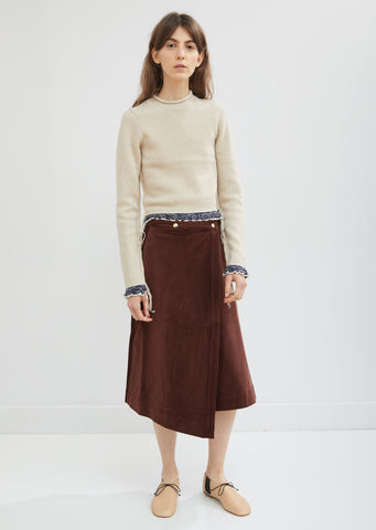 Corduroy Wrap Over Skirt