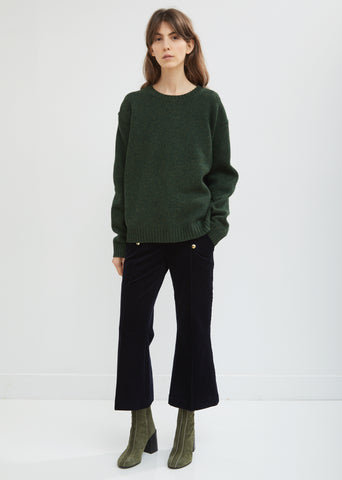 Flared Leg Corduroy Trousers