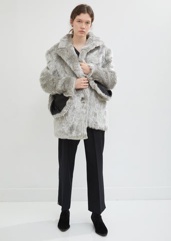 Faux Fur Cape Sleeve Blazer