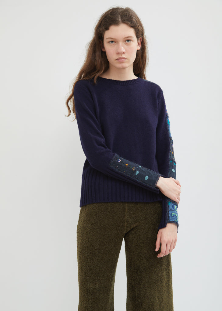 Patchwork Crewneck Sweater