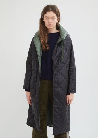 Hooded Reversible Quilted Parka