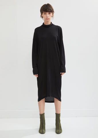 Turtleneck Jersey Dress