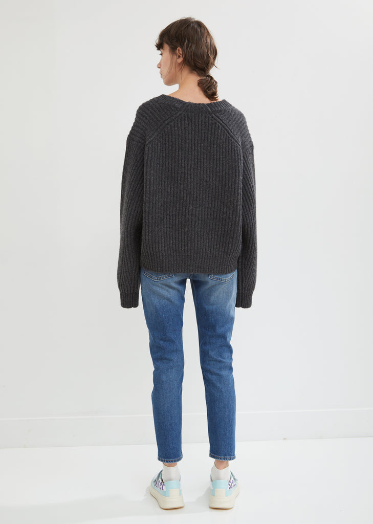 Boxy Crewneck Lambswool Sweater