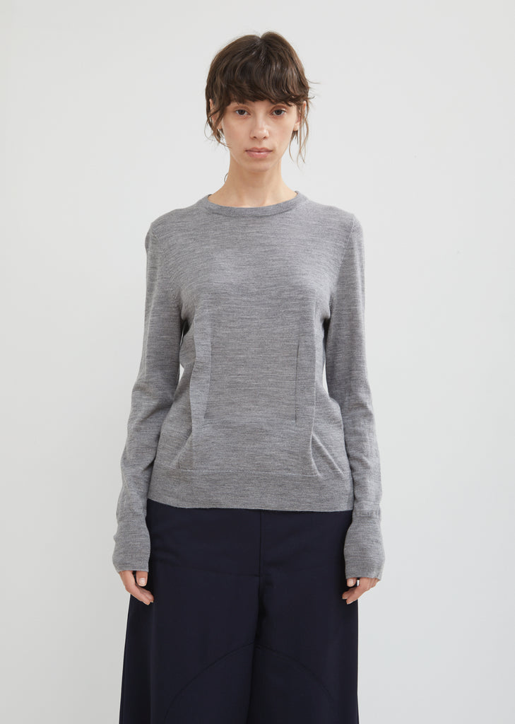 Wool Sweater With Dart Detailing