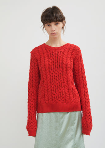 Britta Cotton Cable Knit Sweater